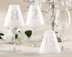 Sophisticated Table Number Luminaries - Elegant Wedding Table Numbers - Weddings, Parties by Total Sign Solutions