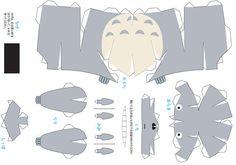 Imprimibles: Papercraft Totoro | El invernadero creativo
