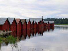 The old fishing village and its harbour of Kerimäki Birches, Summer Landscape, Lofoten, Fishing Villages, Scandinavian Home, Helsinki, Norway, Countryside, Sweden