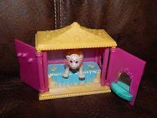 1996 Tonka Corp Vintage Littlest Pet Shop Tiger & Bedroom Playset GUC Rare