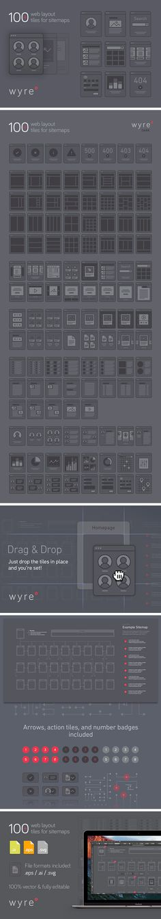 Wyre: Web Layout Flowcharts - download freebie by PixelBuddha