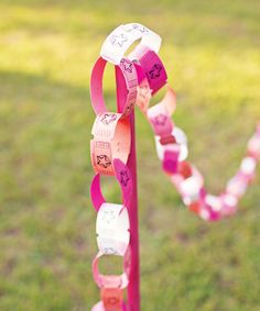 "Carnival ticket ""paper chain"" rope ""Took some time to make the links, but worth it for the cute effect it had for my country themed party. I got a lot of great reviews."""