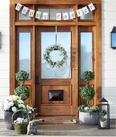 Decorating my front porch for Easter and this is my inspiration!! You can have it too!! Easter porch // Like photos with a shopstyle.it link and get shoppable emails // Sign Up @shopstyle // #SHOPSTYLEit shopstyle.it/dxUDv by suitedesignco
