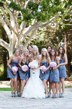 like the color of the bridesmaid dresses