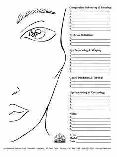 Professional Face Charts (25 Sheets)