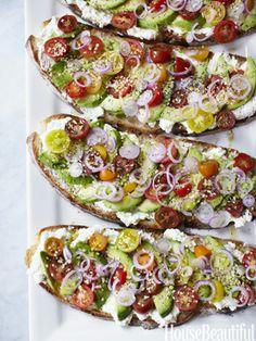 summer avocado sandwich