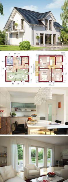 Klassisches Einfamilienhaus Mit Satteldach Erker Und Loggia - Haus
