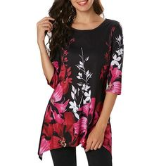 e64db5b0316 Casual Floral Printed. Grey BlouseCollar ShirtsShirt BlousesTunic ...