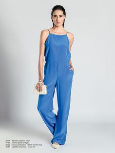 Seaside, Alys Beach & Watercolor // the perfect blue jumpsuit by Osklen, lookbook s|s 14 Collection