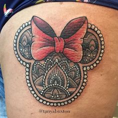 Minnie Mouse mandala to end the day with today ❤️ tanyabuxtontattoo@gmail.com