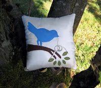 Mrs. Art Teacher!: bird ring pillow