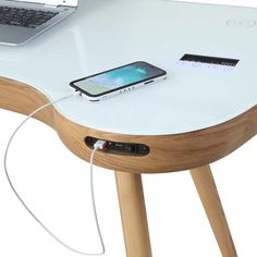 Jual San Francisco Smart Desk in Oak with USB, Bluetooth Speakers & Wireless Charging at Barnitts Online Store, UK Smart Desk, Smart Table, Smart Furniture, Home Office Furniture, Furniture Design, Oak Desk, Executive Office Chairs, Home Technology, Home Automation