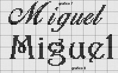 monograma ponto cruz miguel - Pesquisa Google