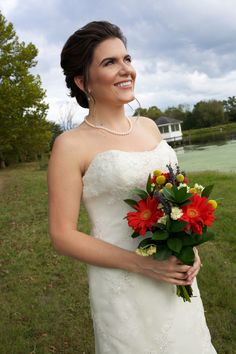 Love everything about this brides look. Hair | Aimee DuPree, Makeup | Sara King, Photo Credit | Alicia Katy Photography