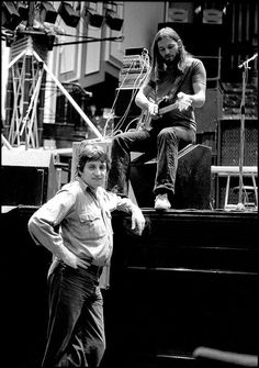 Storm Thorgerson with David Gilmour, 1974...