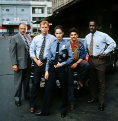 NYPD Blue Cast - Dennis Franz, David Caruso, Amy Brenneman, Nicholas Turturro, James McDaniel