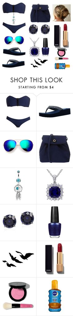 """Beach Breeze"" by maflaugher ❤ liked on Polyvore featuring Lisa Marie Fernandez, Yellow Box, Bling Jewelry, OPI, Chanel, Bobbi Brown Cosmetics, Nivea, women's clothing, women and female"