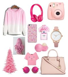 """Pink lover forever"" by mary-mara on Polyvore featuring Michael Kors, Apple, Oasis, Chanel, Eos, Matthew Williamson and Uncommon"