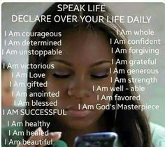 Speak Life - Power of Words Quotes To Live By, Life Quotes, Speak Life, Live Life, Walk By Faith, Daily Prayer, I Am Grateful, Inspirational Message, Inspiring Quotes