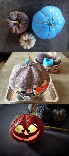 Kürbislaterne basteln. Pumpkin DIY