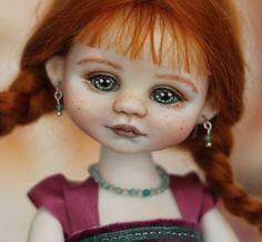 """Porcelain ball jointed doll Girl bjd (7""""/ 18 cm)"""