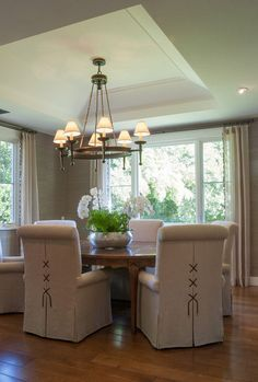 Dining Room. Casual Dining Room Design. Fleming Distinctive Homes.