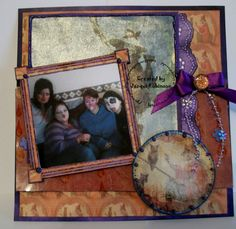 Scrapbook page using Trick or Treat kit from DLD