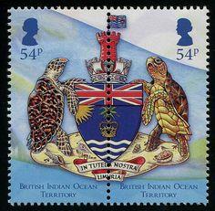 British Indian Ocean Territory Coat of Arms Stamps