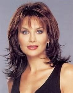 Image result for Medium Hairstyles with Bangs for Women Over 40 with Fine Hair