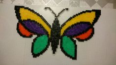 Butterfly hama perler beads by Susanne Damgård Sørensen