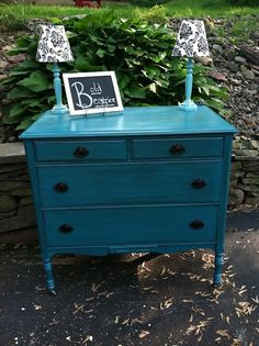 DIY furniture makeover. Needs a little more distressing...
