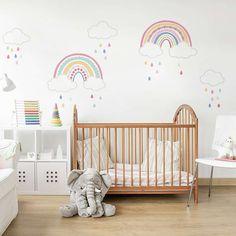 Over the Rainbow Wall Sticker. Over the Rainbow Wall Sticker Girl Bedroom Walls, Nursery Room, Girl Room, Kids Bedroom, Girl Nursery Art, Baby Room Wall Decor, Baby Wall Art, Nursery Furniture, Bedroom Ideas