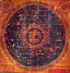 Tibetan astronomical Thangka painted 1684 – Sacred Geometry