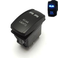 For Polaris RZR XP 900 1000 Ranger 14 15 LED Rear Light Rocker Switch Blue for John Deere Gator XUV UTV