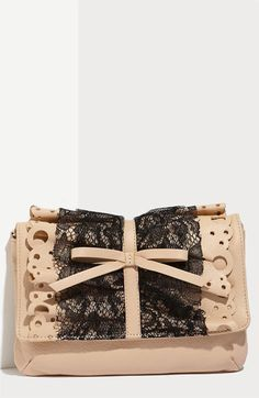 RED Valentino Lace Ruffle Clutch