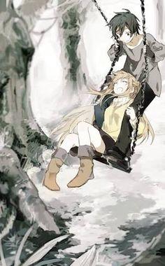 Resultado de imagen para anime couple cuddling