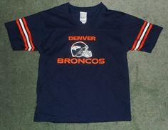 Youth Boys Blue, Orange DENVER BRONCOS NFL Team Logo Jersey, Size M 10/12, GUC! #NFLTEAMAPPAREL #DenverBroncos