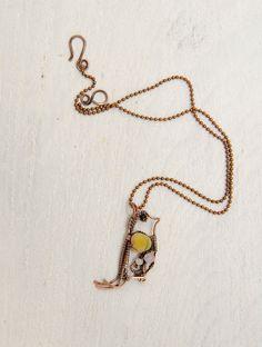 Romantic necklace Tiny Yellow Bird unique jewelry one by IrenAdler