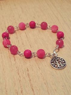 Check out this item in my Etsy shop https://www.etsy.com/listing/236324479/pink-stone-beaded-linked-bracelet