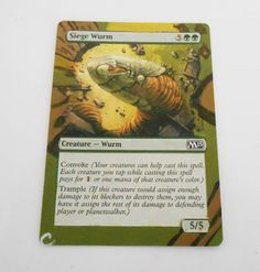 MTG Altered Painted Seige Wurm M15 #WizardsoftheCoast