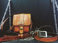 Bag from the natural skin of handwork