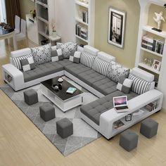 Living Room Sofa Design, Home Room Design, Home Interior Design, Living Room Decor, Bedroom Decor, Modern Living Room Designs, Modern Sofa Designs, Sofa For Living Room, Modern Living Room Furniture
