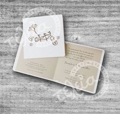 laser cut invitation, code T517