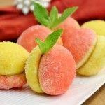 Peach Pastries With Dulce de Leche Filling; Пирожные Персики