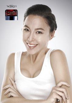 L'Oreal Revitalift Laser X3: Upside down earrings  Advertising Agency: McCann Worldgroup, Singapore