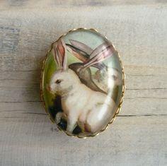 Victorian Rabbit Brooch