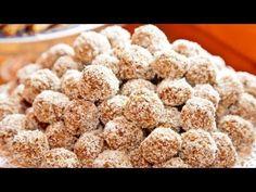 "Ligia's Kitchen: Bomboane gen ""Raffaello"" Good Healthy Recipes, Raw Food Recipes, Dessert Recipes, Desserts, Delicious Recipes, Healthy Food, Food Videos, Pop, Clean Eating"