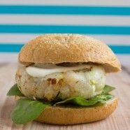 Fish Burger with Wasabi & Lemon Sauce