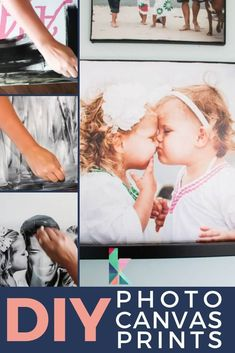 DIY photo canvases are EASY to make and look just as great as expensive store-bought options! Craft Projects For Kids, Diy Crafts For Kids, Wood Projects, Project Ideas, Diy Home Decor Bedroom, Diy Home Decor On A Budget, Sell Diy, Diy Crafts To Sell, Diy Wall Art