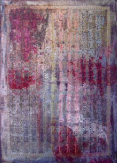 Collection Nama Japa N°5.  Technique mixte sur bois.  Tableau 30 X 42 cm.